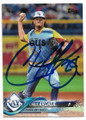 CHRIS ARCHER TAMPA BAY RAYS AUTOGRAPHED BASEBALL CARD #62519F