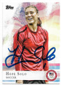 HOPE SOLO USA WOMENS OLYMPIC SOCCER AUTOGRAPHED CARD #62719B