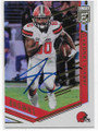 JARVIS LANDRY CLEVELAND BROWNS AUTOGRAPHED FOOTBALL CARD #62719D