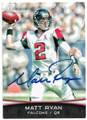 MATT RYAN ATLANTA FALCONS AUTOGRAPHED FOOTBALL CARD #63019D