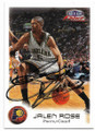 JALEN ROSE INDIANA PACERS AUTOGRAPHED BASKETBALL CARD #63019E