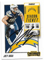 JOEY BOSA LOS ANGELES CHARGERS AUTOGRAPHED FOOTBALL CARD #70519F
