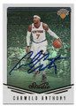 CARMELO ANTHONY NEW YORK KNICKS AUTOGRAPHED BASKETBALL CARD #70719B