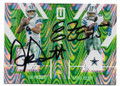 DAK PRESCOTT & EZEKIEL ELLIOTT DALLAS COWBOYS DOUBLE AUTOGRAPHED & NUMBERED FOOTBALL CARD #70819C