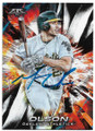 MATT OLSON OAKLAND ATHLETICS AUTOGRAPHED BASEBALL CARD #71619E