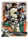BRANDON CRAWFORD SAN FRANCISCO GIANTS AUTOGRAPHED BASEBALL CARD #71719C