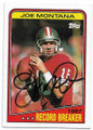 JOE MONTANA SAN FRANCISCO 49ers AUTOGRAPHED VINTAGE FOOTBALL CARD #71819E