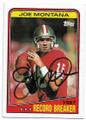 JOE MONTANA SAN FRANCISCO 49ers AUTOGRAPHED VINTAGE FOOTBALL CARD #71819E