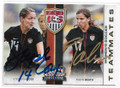 STEPHANIE COX & TOBIN HEATH USA WOMEN'S SOCCER DOUBLE AUTOGRAPHED SOCCER CARD #72319F