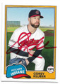 COREY KLUBER CLEVELAND INDIANS AUTOGRAPHED BASEBALL CARD #72419A