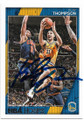 KLAY THOMPSON GOLDEN STATE WARRIORS AUTOGRAPHED BASKETBALL CARD #72419C