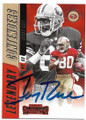JERRY RICE SAN FRANCISCO 49ers AUTOGRAPHED FOOTBALL CARD #72519B