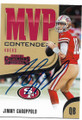 JIMMY GAROPPOLO SAN FRANCISCO 49ers AUTOGRAPHED FOOTBALL CARD #72719B