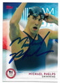 MICHAEL PHELPS OLYMPIC SWIMMING AUTOGRAPHED CARD #72719D