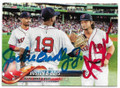JACKIE BRADLEY JR & ANDREW BENINTENDI BOSTON RED SOX DOUBLE AUTOGRAPHED BASEBALL CARD #72919B