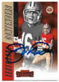 JOE MONTANA SAN FRANCISCO 49ers AUTOGRAPHED FOOTBALL CARD #73019B
