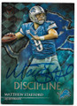 MATTHEW STAFFORD DETROIT LIONS AUTOGRAPHED & NUMBERED FOOTBALL CARD #73119C