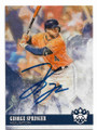 GEORGE SPRINGER HOUSTON ASTROS AUTOGRAPHED BASEBALL CARD #80219B