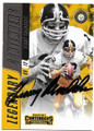 TERRY BRADSHAW PITTSBURGH STEELERS AUTOGRAPHED FOOTBALL CARD #80619B