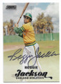 REGGIE JACKSON OAKLAND ATHLETICS AUTOGRAPHED BASEBALL CARD #80619D