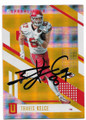 TRAVIS KELCE KANSAS CITY CHIEFS AUTOGRAPHED & NUMBERED FOOTBALL CARD #80719B