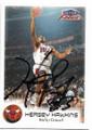 HERSEY HAWKINS CHICAGO BULLS AUTOGRAPHED BASKETBALL CARD #81019C
