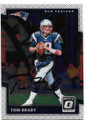 TOM BRADY NEW ENGLAND PATRIOTS AUTOGRAPHED FOOTBALL CARD #81319D