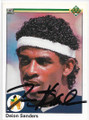 DEION SANDERS NEW YORK YANKEES AUTOGRAPHED ROOKIE BASEBALL CARD #81419A