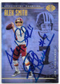 ALEX SMITH & JOE THEISMANN WASHINGTON REDSKINS DOUBLE AUTOGRAPHED FOOTBALL CARD #81419B