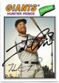 HUNTER PENCE SAN FRANCISCO GIANTS AUTOGRAPHED BASEBALL CARD #81419C