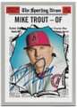 MIKE TROUT LOS ANGELES ANGELS OF ANAHEIM AUTOGRAPHED BASEBALL CARD #81819D