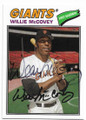 WILLIE McCOVEY SAN FRANCISCO GIANTS AUTOGRAPHED BASEBALL CARD #82719A