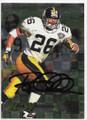 ROD WOODSON PITTSBURGH STEELERS AUTOGRAPHED FOOTBALL CARD #82719D