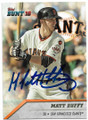 MATT DUFFY SAN FRANCISCO GIANTS AUTOGRAPHED BASEBALL CARD #91019D