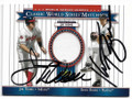JIM THOME AND KEVIN BROWN CLEVELAND INDIANS AND FLORIDA MARLINS PIECE OF THE GAME AUTOGRAPHED BASEBALL CARD #91119A