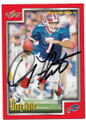 DOUG FLUTIE BUFFALO BILLS AUTOGRAPHED FOOTBALL CARD #91119B