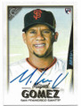 MIGUEL GOMEZ SAN FRANCISCO GIANTS AUTOGRAPHED ROOKIE BASEBALL CARD #91619A