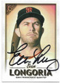 EVAN LONGORIA SAN FRANCISCO GIANTS AUTOGRAPHED BASEBALL CARD #92619A