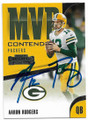 AARON RODGERS GREEN BAY PACKERS AUTOGRAPHED FOOTBALL CARD #92619B