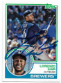 LORENZO CAIN MILWAUKEE BREWERS AUTOGRAPHED BASEBALL CARD #92619C