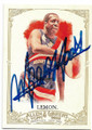 MEADOWLARK LEMON HARLEM GLOBETROTTERS AUTOGRAPHED BASKETBALL CARD #92619D
