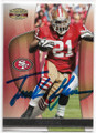 FRANK GORE SAN FRANCISCO 49ers AUTOGRAPHED FOOTBALL CARD #111319A