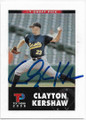 CLAYTON KERSHAW LOS ANGELES DODGERS AUTOGRAPHED ROOKIE BASEBALL CARD #111319B