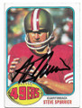 STEVE SPURRIER SAN FRANCISCO 49ers AUTOGRAPHED VINTAGE FOOTBALL CARD #111319C