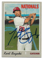 KURT SUZUKI WASHINGTON NATIONALS AUTOGRAPHED BASEBALL CARD #111319D