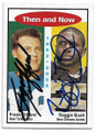FRANK GIFFORD & REGGIE BUSH NEW YORK GIANTS & REGGIE BUSH NEW ORLEANS SAINTS ROOKIE DOUBLE AUTOGRAPHED CARD #111519F