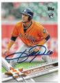 YULI GURRIEL HOUSTON ASTROS AUTOGRAPHED ROOKIE BASEBALL CARD #111619D