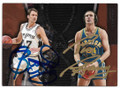 BRENT BARRY & RICK BARRY SAN ANTONIO SPURS & GOLDEN STATE WARRIORS SON-FATHER DOUBLE AUTOGRAPHED BASKETBALL CARD #11619H