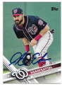 ADAM EATON WASHINGTON NATIONALS AUTOGRAPHED BASEBALL CARD #111819B