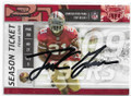 FRANK GORE SAN FRANCISCO 49ers AUTOGRAPHED FOOTBALL CARD #111919D